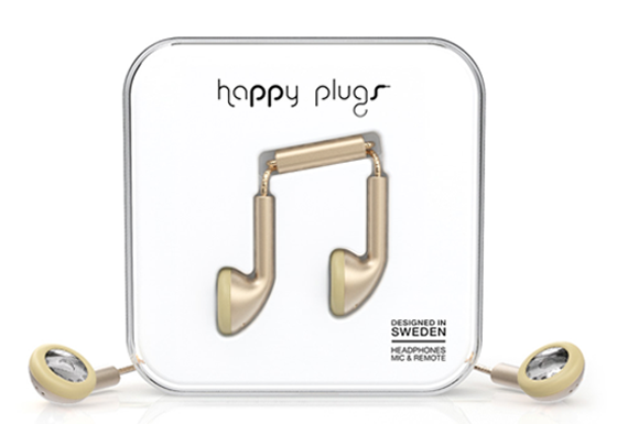 happy earbud champagne
