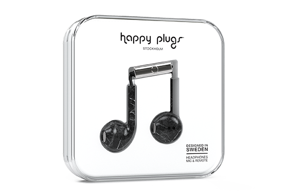 EARBUD PLUS BLACK MARBLE 7829