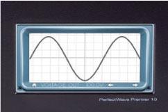 オシロスコープ機能を内蔵し、入力と出力の波形表示が可能