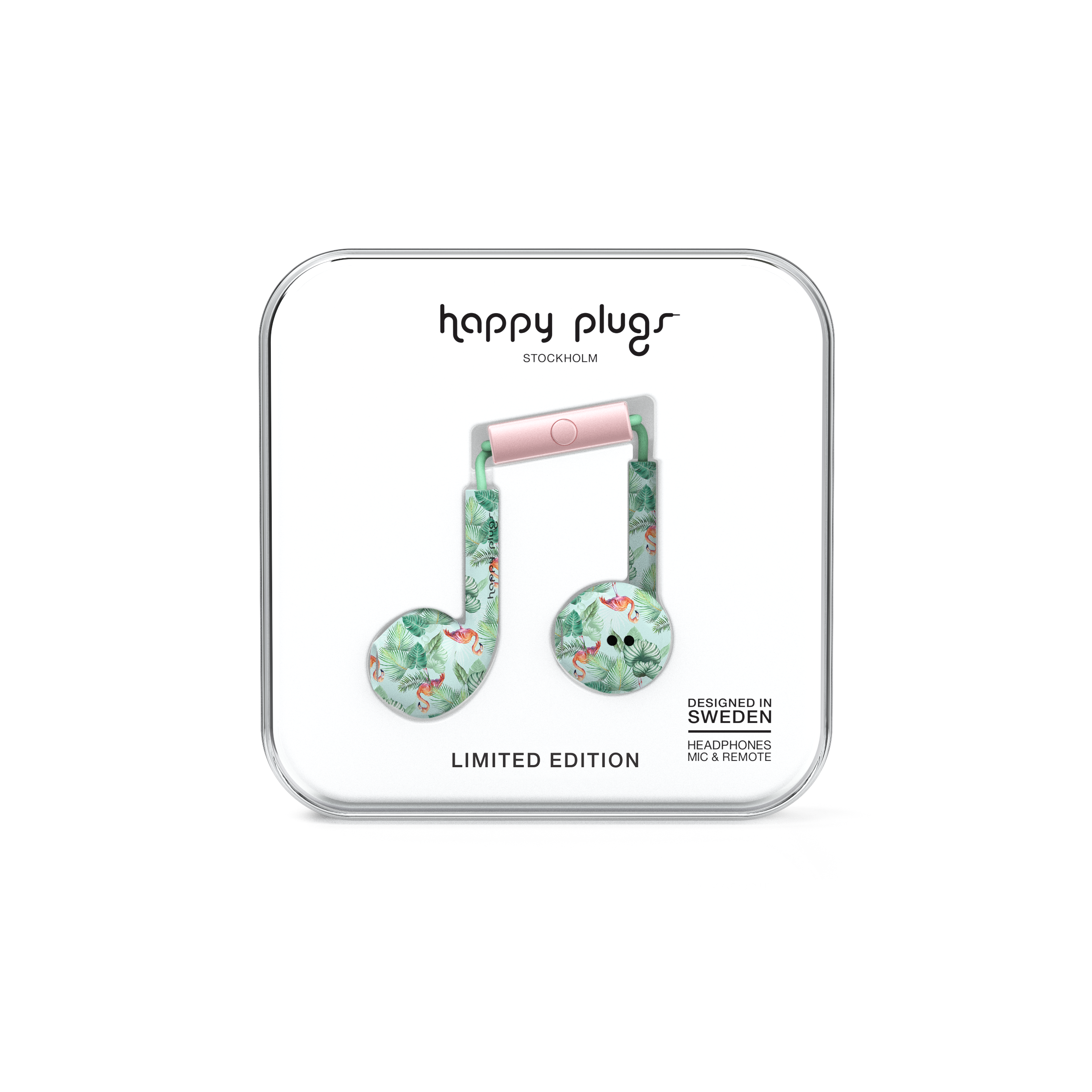 EARBUD PLUS PINK FLAMINGOS7606